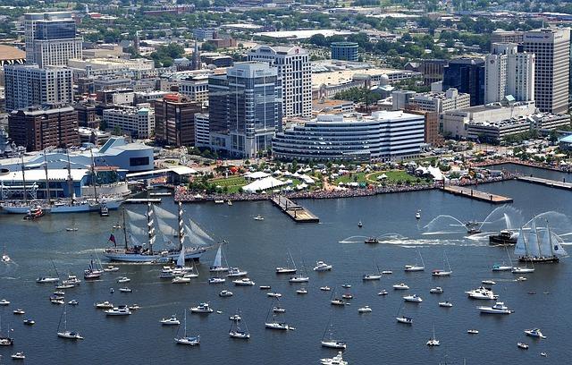 BNA > Norfolk, Virginia: $158 round-trip- Aug-Oct (Including Labor Day)